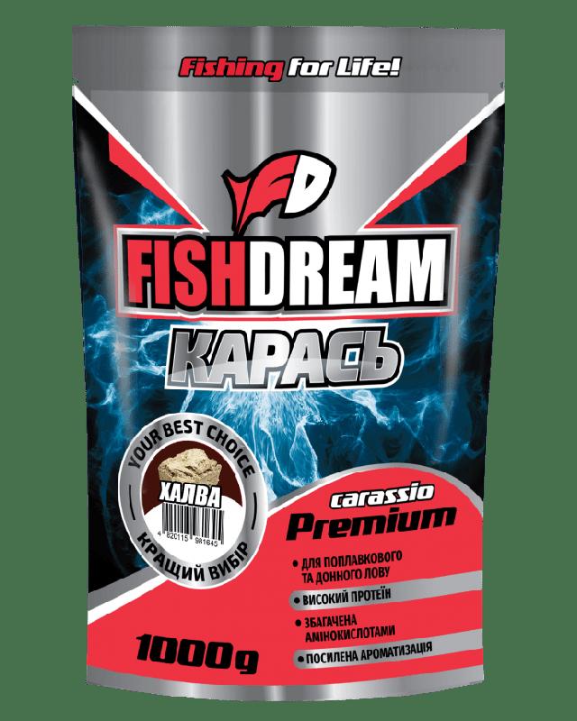 Прикормка FishDream Premium Zip Карась халва 1kg