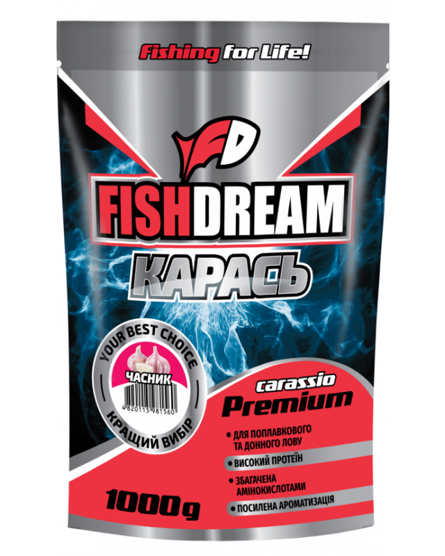 Прикормка FishDream Premium Zip Карась часник 1kg