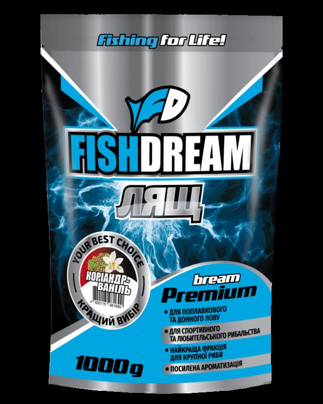 Прикормка FishDream Premium Zip Лящ коріандр-ваніль 1kg