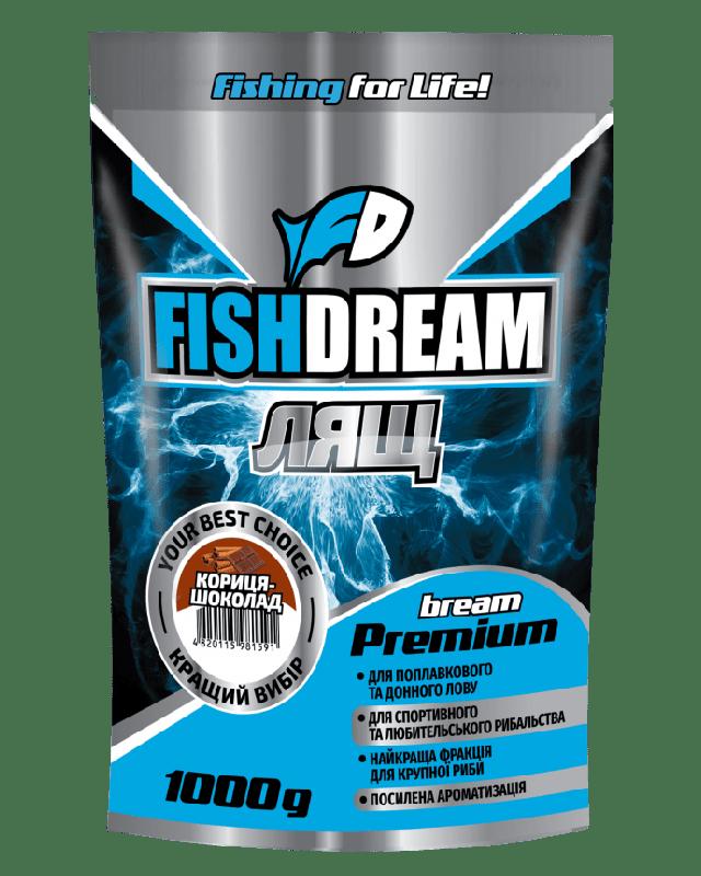 Прикормка FishDream Premium Zip Лящ коріца-шоколад 1kg