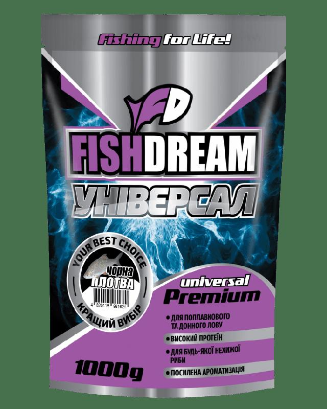 Прикормка FishDream Premium Zip Універсал чорна плітка 1kg