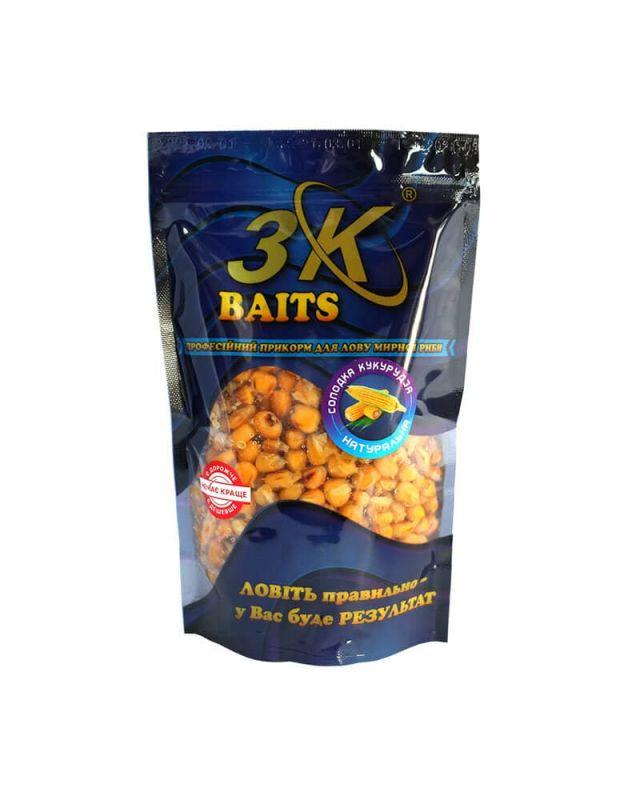 Прикормка 3K Baits кукурудза солод.(натурал)400g