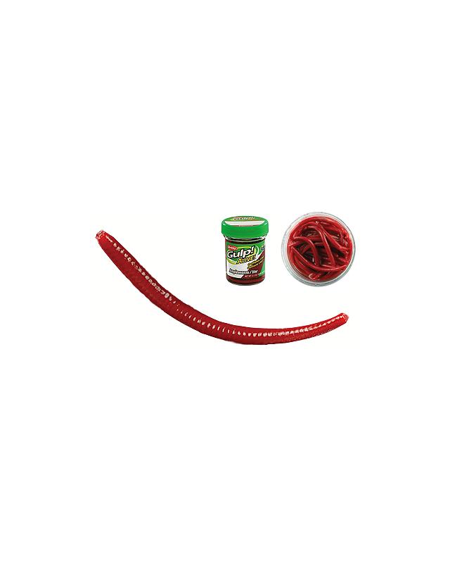 Силикон Berkley червь Gulp! Alive! Angle Worm GAJAW-RDW 50мм (60шт) Red Wiggler