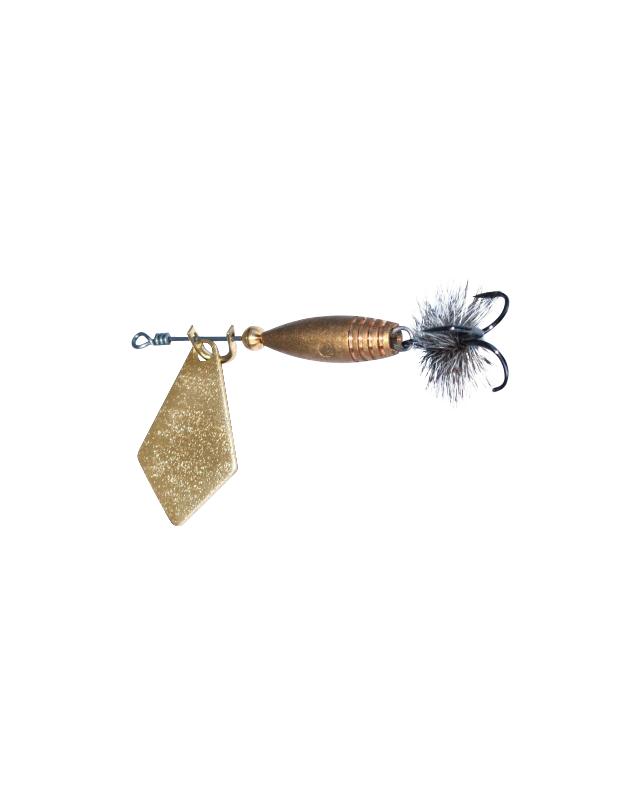 Блесна Маньячка ребус-муха №1 1.1г золото