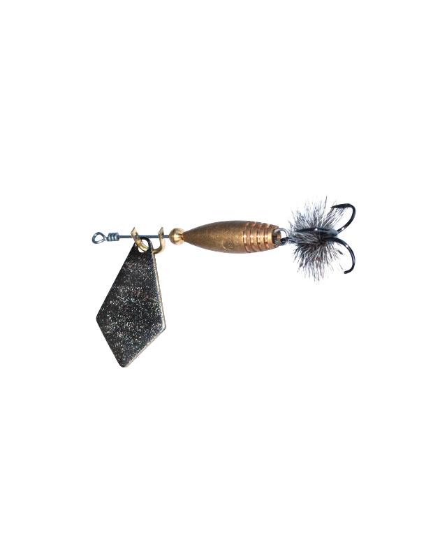 Блесна Маньячка ребус-муха №1 1.1г черная