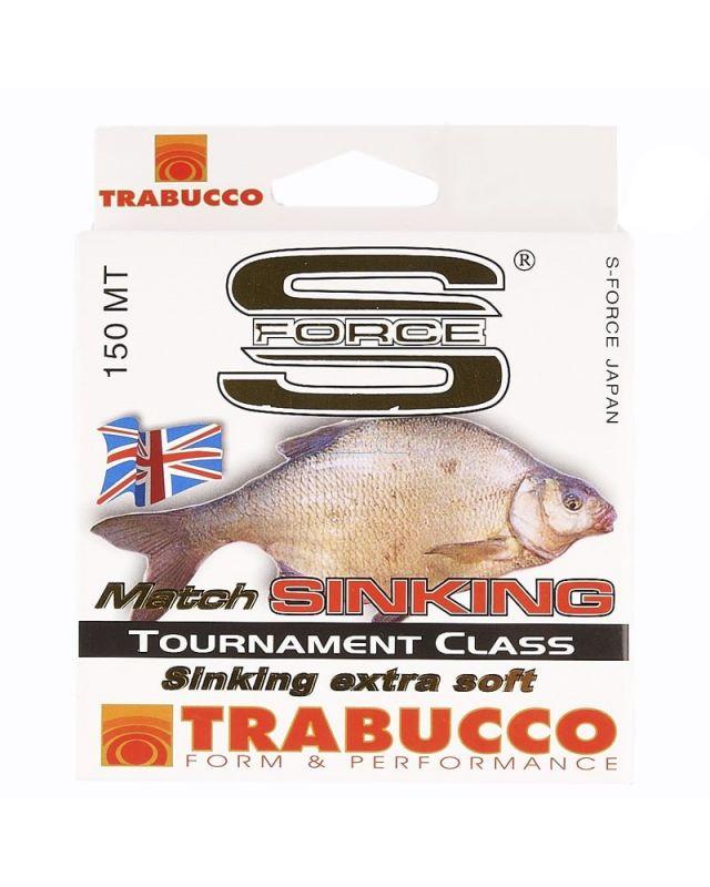 Леска Trabucco S-Force Match Sinking 150m 0.20mm