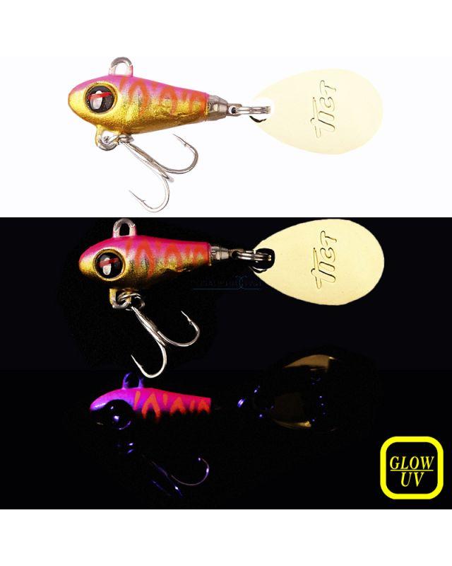 Тейл-спиннер Tict Spinbowy 4.0g 08 UV pink tiger